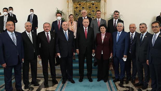 Ərdoğan azərbaycanlı deputatlarla görüşdü