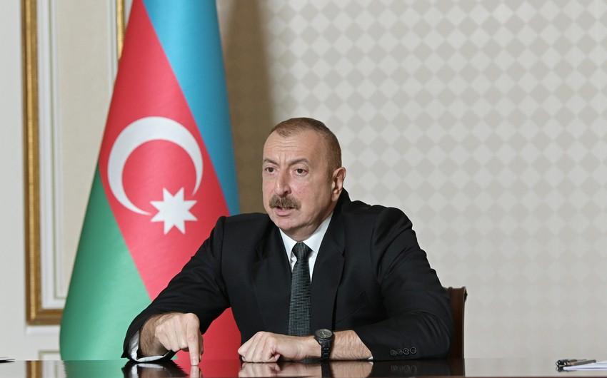 """Azərbaycan Prezidenti: """"Bu gün ölkə üzrə təbii qazla təchizat 96-97 faizə çatıb"""""""