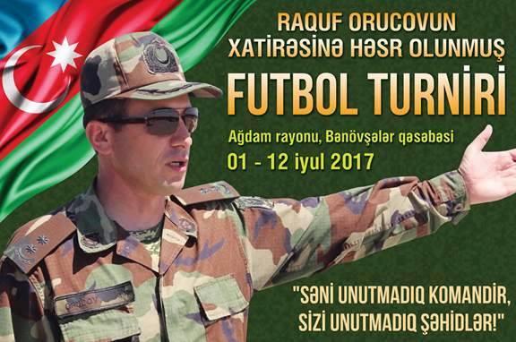 Raqub Orucovun xatirəsinə II futbol turnirinin açılış mərasimi olub