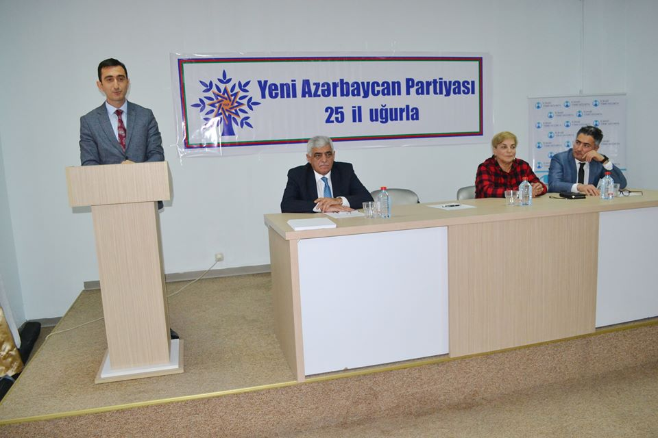 Yeni Azərbaycan Partiyasının 25 illik yubileyi İcbari tibbi sığortanın tətbiq olunduğu Yevlax rayon Mərkəzi Xəstəxanasında qeyd edildi