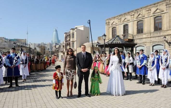 Prezident Novruz bayramı münasibətilə ümumxalq şənliyində iştirak edir