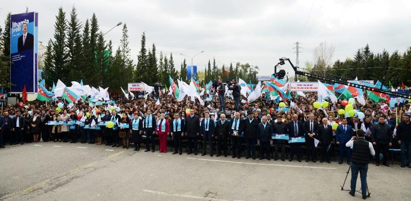 Yevlaxda təntənəli təşviqat konserti keçirilib FOTOLAR