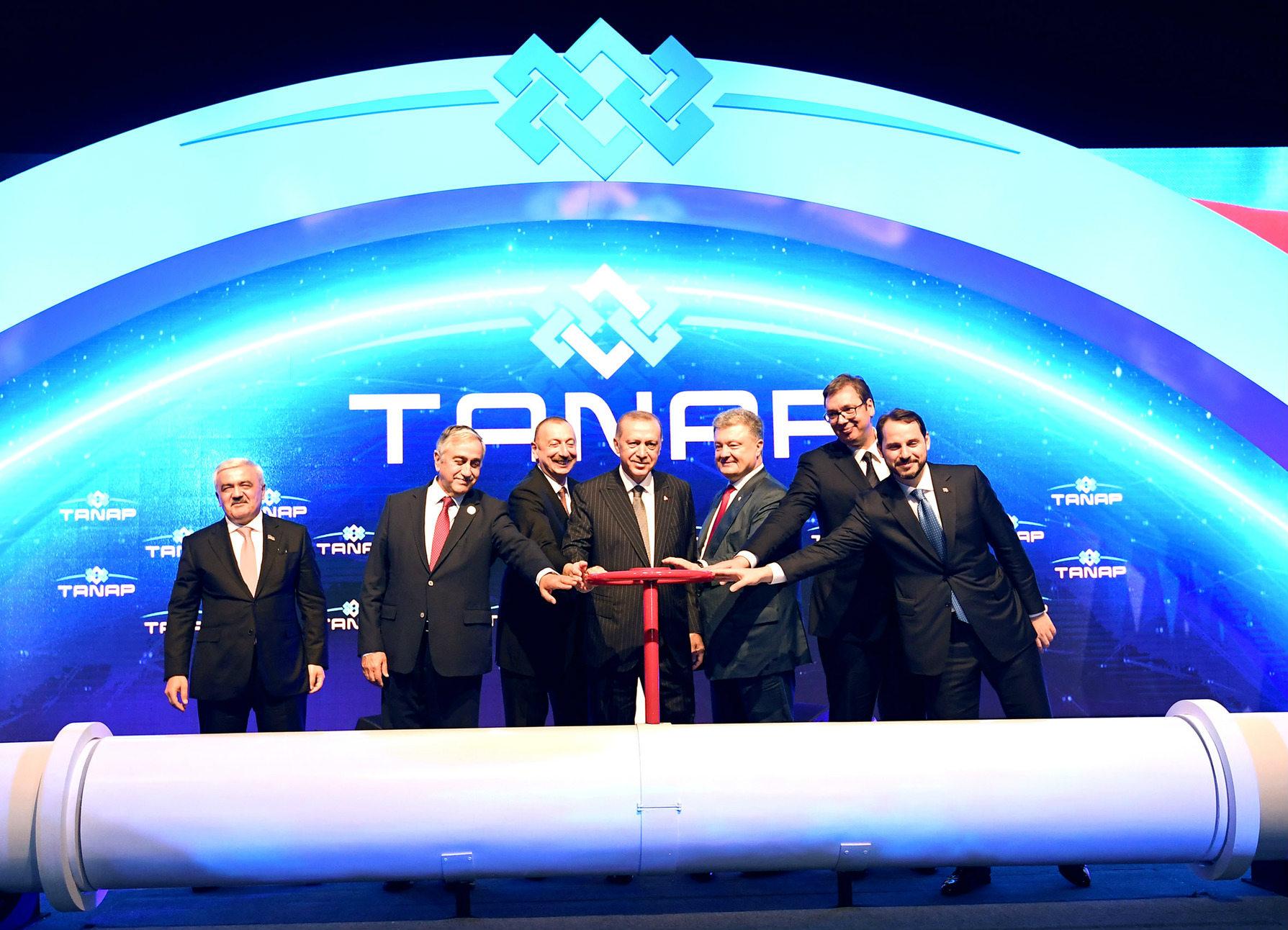 İlham Əliyev  TANAP layihəsinin açılış mərasimində iştirak edib