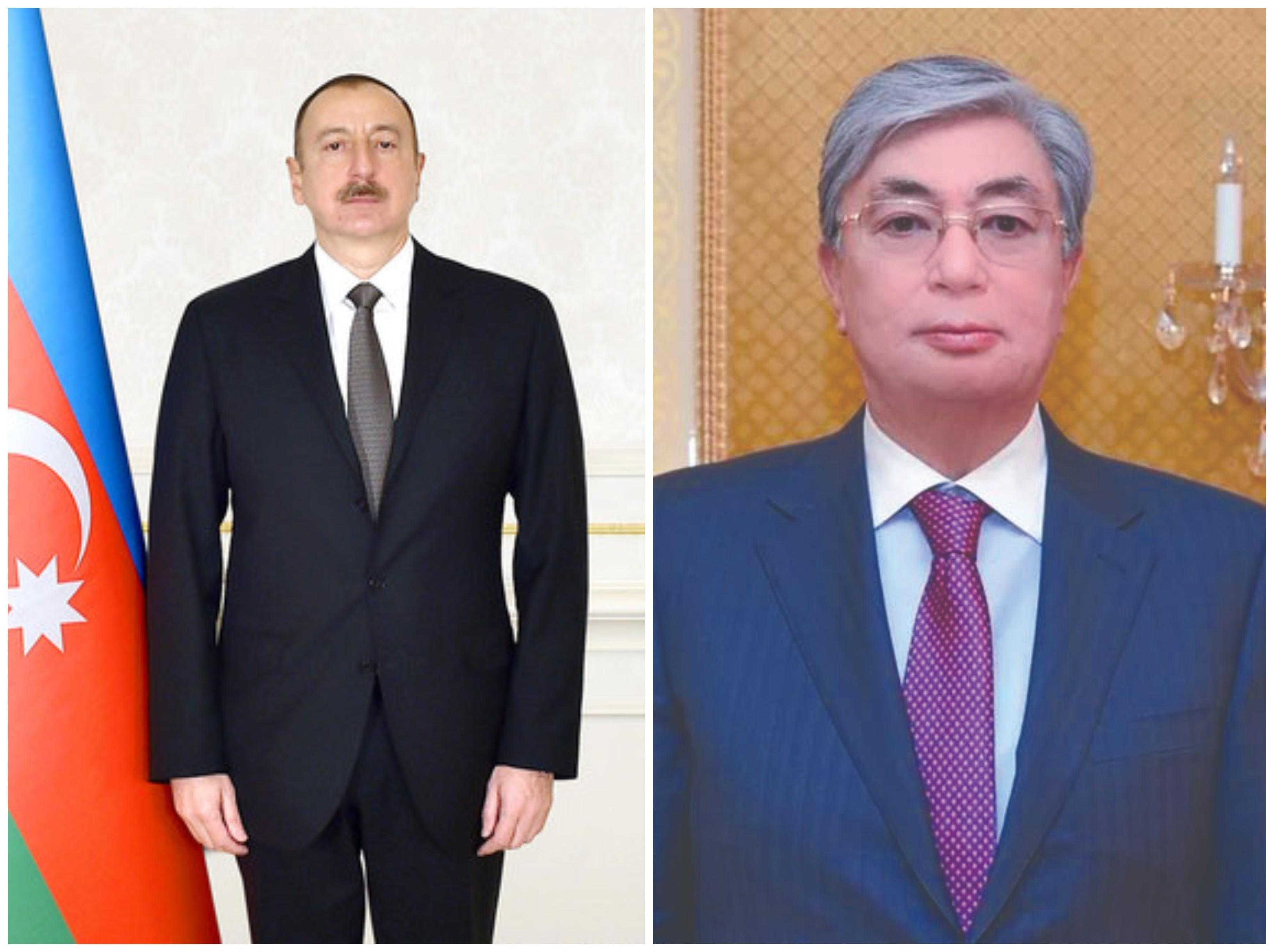 Qazaxıstan Prezidenti Azərbaycan Prezidentini təbrik etdi
