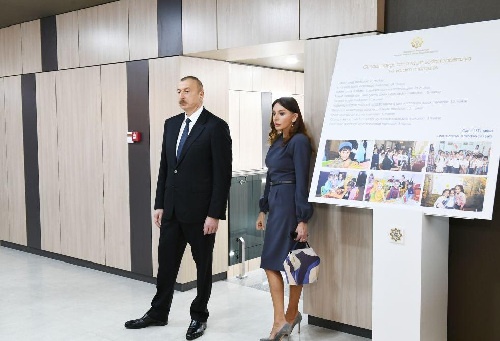 İlham Əliyev və Mehriban Əliyeva açılışda iştirak etdilər