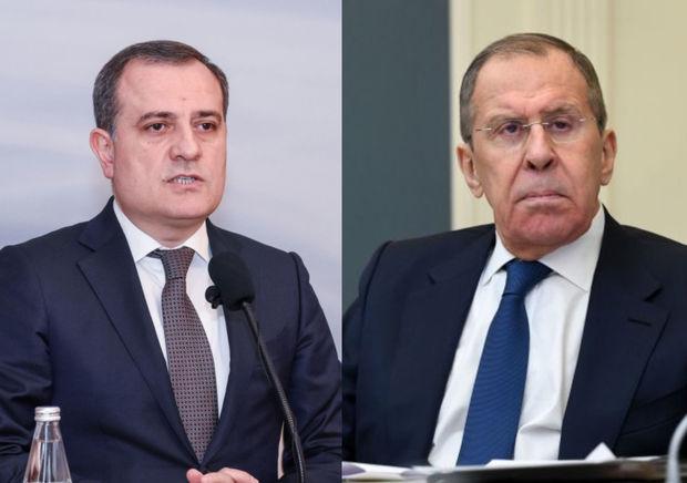 Ceyhun Bayramov və Sergey Lavrov danışıqlarda