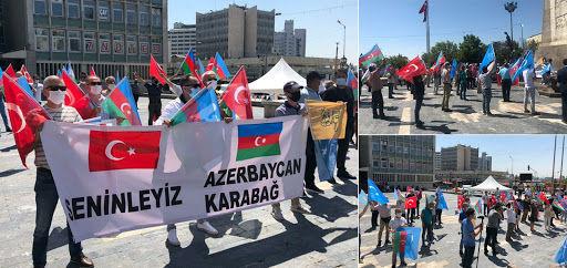 Ankara şəhərində Azərbaycana növbəti dəstək aksiyası keçirilib