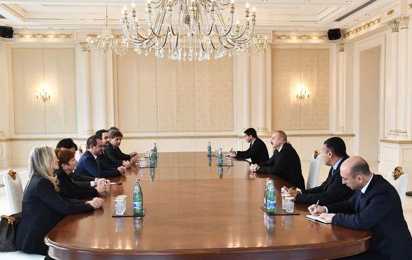 İlham Əliyev İtaliya Deputatlar Palatasının sədr müavini ilə görüşdü