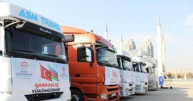 Türkiyədən Azərbaycana altı TIR yardım göndərildi