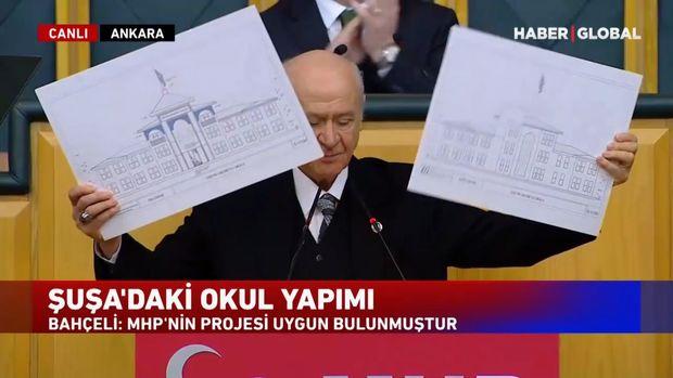 Dövlət Bağçalı Şuşada tikiləcək məktəbin eskizini göstərdi
