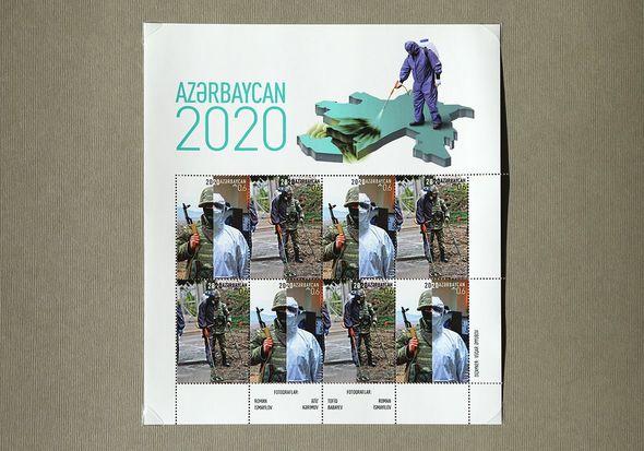 Azərbaycan qəhrəmanları poçt markalarında – FOTO