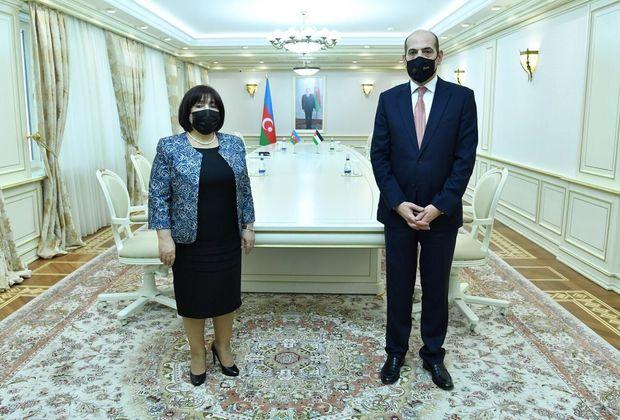 Sahibə Qafarova İordaniya səfiri ilə görüşdü