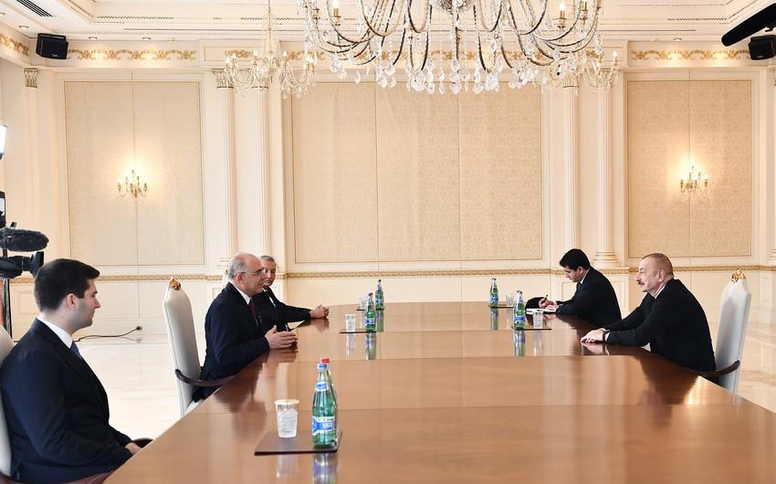 Prezident İlham Əliyev Türkiyənin Milliyətçi Hərəkat Partiyasının sədr müavinini qəbul edib