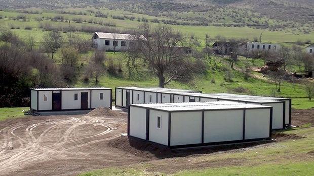 Azad olunmuş ərazilərdə modul tipli yataqxanalar quraşdırılır